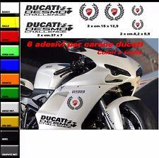 Kit adesivi compatibili per carene Ducati 1198 Challenge corona alloro scudetto