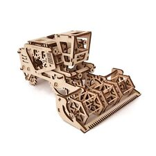 3D Mechanical Puzzle HARVESTER, wooden construction kit woodcraft moving model