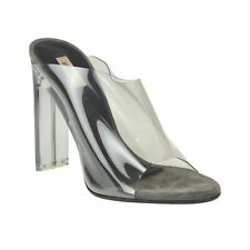 d2450f7f708 Yeezy Season 6 Smoky Gray PVC Mules PUMPS Shoes 7 37
