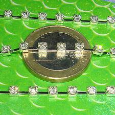2 Metros de Cadena De Aluminio Strass con Facetadas 3mm  A135 Chain Kette