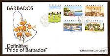 BARBADOS 2000 NIDHE YISRAEL SYNAGOGUE STAMP GOLF BRIDGETOWN PORT SHIP 5v FDC