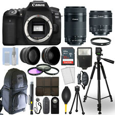 Canon EOS 90D DSLR Camera + 18-55mm STM + 55-250mm STM 4 Lens 32GB Valued Kit