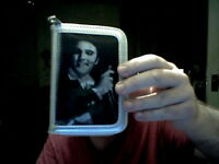 ELVIS PRESLEY 3D COVER (3 PICS) LADIES SILVER PURSE PERFECT CHRISTMAS GIFT!