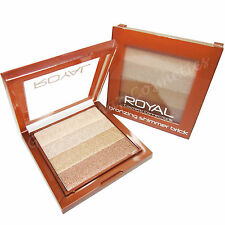 Royal Shimmering Bronzing Brick Stripy Powder Bronzer & Highlighter Contour