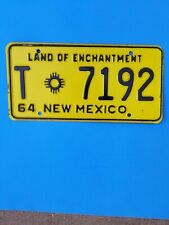 1964 New Mexico license plate, T-7192