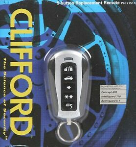 CLIFFORD 7151X 5 Button Super Code Hopping Replacement Remote AvantGuard 5.1 NEW