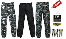 Force Rider Cargo Style Motorcycle Pants with DuPont™ Kevlar® + armour hip knee