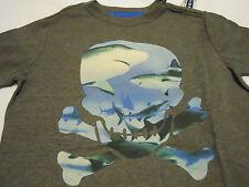 Old Navy Tee Shirt  Boys XL 14-16 Gray Skull Print Shark
