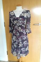 Ladies PHASE EIGHT DRESS Size 10 Grey Floral Party Evening