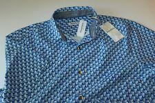 Tommy Bahama 100 Silk Camp Shirt Mens XL Pacific GEOS Sky Blue T322148