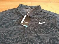 👉 NEW NIKE GOLF DRI FIT STANDARD FIT POLO SHIRT MEN'S SIZE XL BLACK GRAY