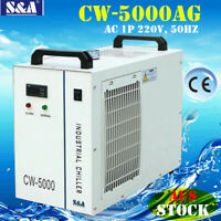 AU S&A CW-5000AG Industrial Water Chiller Cool Single 80W/100W CO2 Laser Tube