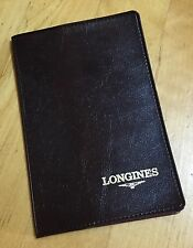 LONGINES Vintage Wallet Card Certificate Holder Conquest Master Heritage Admiral