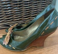 Penny Loves Kenny Patent Leather Wedge Peeptoe. 8.5