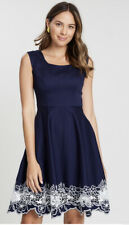 REVIEW 10 CUT IT OUT DRESS NAVY