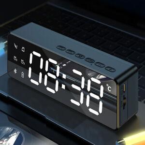 LED Wecker Digital Alarmwecker Uhr Kalender Funk Lautsprecher MP3