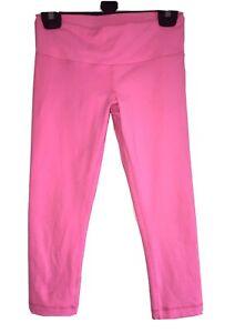 Ladies RI Stretch Activewear Gym Legging Shorts + 3M Hidden Pocket Pink S/M 8-10