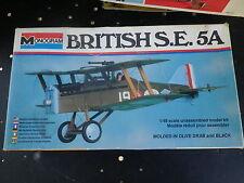 MONOGRAM Kit plastique 1:48 à monter AVION BRITISH SE 5A pièces dans sac scellé