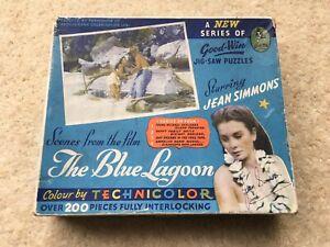 SCARCE c1949 VINTAGE THE BLUE LAGOON (JEAN SIMMONS) GOOD-WIN JIGSAW PUZZLE