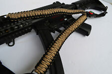 "50"" One Point 550 Paracord Rifle Gun Airsoft Sling w/Compass & Flint(DesertCamo)"