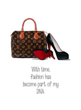 ART PRINT Fashion has become part of my DNA Quote, Bag, Shoes, Designer, Gift