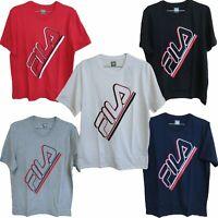 Fila Mens Casual Slanted Logo Short Sleeve Tee T-Shirt SM933694