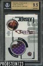 1998-99 Vince Carter Rookie Upper Deck Game Jersey 3 Color BGS 9.5 w/10