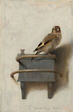 Framed Print - The Goldfinch by Carel Fabritius circa 1654 (Bird Picture Art)