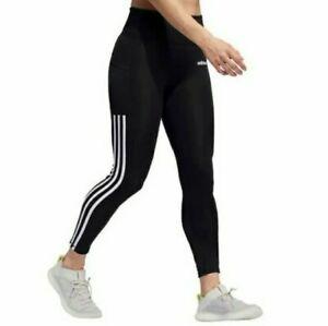 Adidas Womens Climalite High Rise Black Three Stripes 7/8 Leggings - Size Small