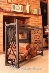 FIREPLACE ACCESSORIES HERITAGE Indoor Firewood Rack Log Holder Storage FIREPLACE