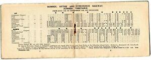 Romney Hythe & Dymchurch Railway Timetable Booklet 1937 AH832
