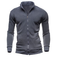 Mens Casual Slim Fit Stand Collar Coat Top Military Blazer Jacket Winter Outwear