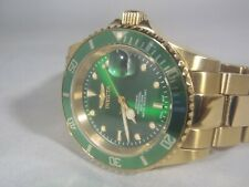Invicta 40mm Pro Diver Swiss Made Automatic Gold Green Stainless Steel Watch