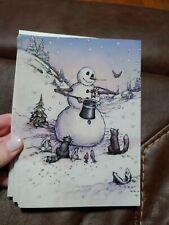 Snowman's Magic Christmas Card Unique