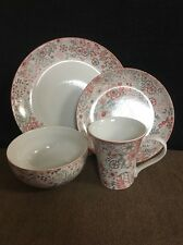222 Fifth Evangeline Red 16Pc Place Setting Dinnerware Set Service For Four Nwt