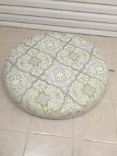 Frontgate Monterey Outdoor Patio Sofa CIRCLE Round OTTOMAN cushion 37x37 Paisley