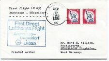 Lufthansa First Direct Flight LH 653 Anchorage Dusseldorf Polar Antarctic Cover