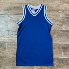 Vtg Empire Basketball Jersey Small 32/34 Royal Blue Nylon Hoops 70s 80s Costume