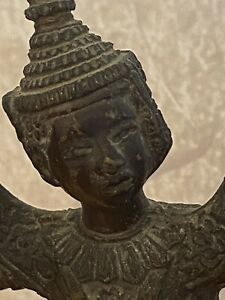 ANTIQUE THAI HINDU BRONZE BUDDHA STATUE DANCING