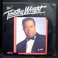Timothy Wright - Who's On The Lord's Side LP VG+ SAV 14795 Savoy 1989 Vinyl USA