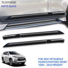 Side Door Body Molding Cladding Mitsubishi Pajero Montero Sport Matte Black 2016