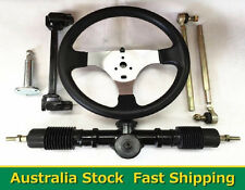 GO KART GO CART 150cc Steering Wheel Tie Rod Rack Adjustable Shaft Package