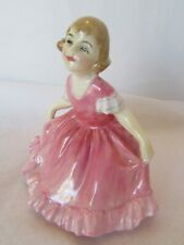 Vintage Royal Doulton Daisy Girl Figurine Hn 1961 Daisy Little Girl Pink Dress
