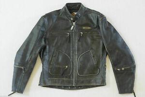 Harley Davidson Distressed Leather Jacket Mens Large
