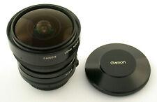 Canon FD 5,6/7,5 7,5 7,5mm f5, 6 5,6 Fisheye Premium adaptable a7 MINT COME NUOVO