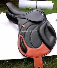 """NEW JUMP CLOSE CONTACT 100% GENUINE LEATHER SADDLE (Avalable size 16"""" 17"""" 18"""")"""