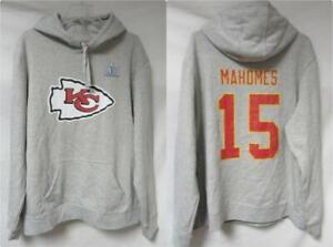 Kansas City Chiefs Mahomes #15 Men's 2XL Super Bowl LIV Champions Hoodie A1 3929