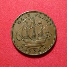 Uk - Great Britain 1938 Half Penny- George Vi - Good Details Km#844 Ths