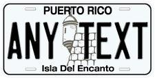 Puerto Rico Any Name Aluminum Novelty Car License Plate