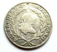 Brandenburg Ansbach Schwabach 20 Kreuzer 1763 S Silber